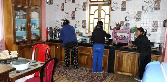 Kitchen, A Peaceful Homestay, Okhrey, Family interaction, OurGuest