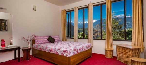 Room 2, OurGuest Mountain Retreat, Pelling, Traditional Homestay, View of kanchenjunga, OurGuest