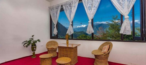 Tea Lounge, OurGuest Mountain Retreat, Pelling, traditional homestay, kanchenjunga view, offbeat destinations, OurGuest